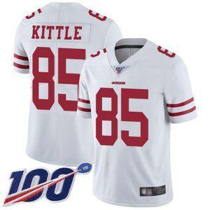 Mens 49ers #85 George Kittle 100th Season Jersey